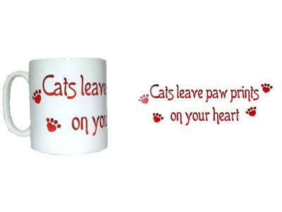 Cats Leave Pawprints on your Heart Mug